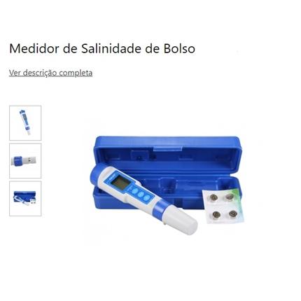 Medidor digital portátil de salinidade