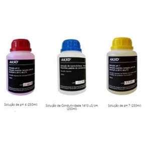 Kit de Soluções Padrão de Calibração para pH e CE