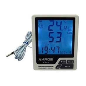Mini-termohigrômetro com relógio digital